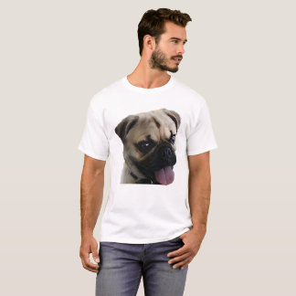 T-shirt Chien bronzage heureux de carlin