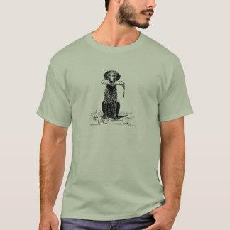 T-shirt Chien d'arrêt enduit bouclé avec le pare-chocs