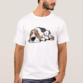 T-shirt Chien de bande dessinée de Basset Hound