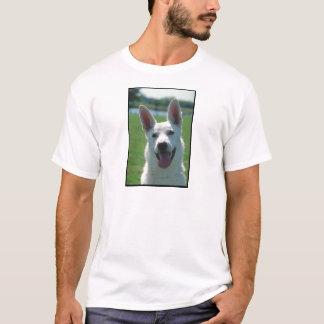 T-shirt Chien de berger allemand blanc
