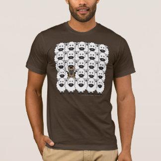 T-shirt Chien de berger allemand chez les moutons