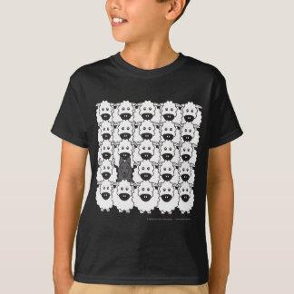 T-shirt Chien de berger belge chez les moutons
