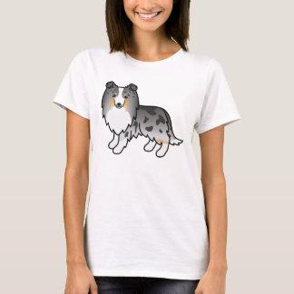 T-shirt Chien de berger bleu de Merle Shetland de bande