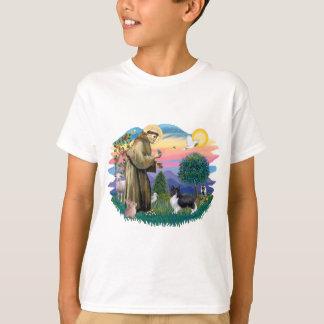 T-shirt Chien de berger de Shetland (noir de Bi)