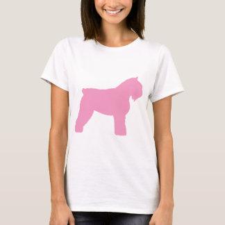 T-shirt Chien de DES Flandres de Bouvier (dans le rose)
