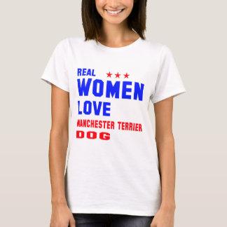 T-shirt Chien de Manchester Terrier d'amour de vraies