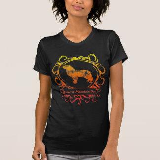 T-shirt Chien de montagne de Bernese patiné chic