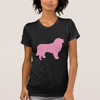 T-shirt Chien de montagne de Bernese (silhouette rose)