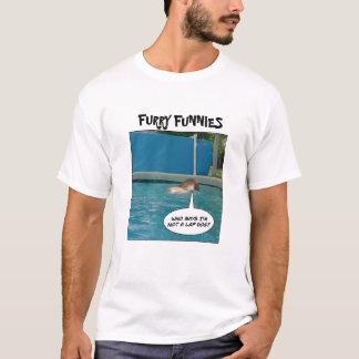 """T-shirt Chien de recouvrement de Funnies velu """"? """""""