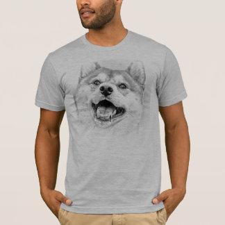 T-shirt Chien de sourire de Shiba Inu