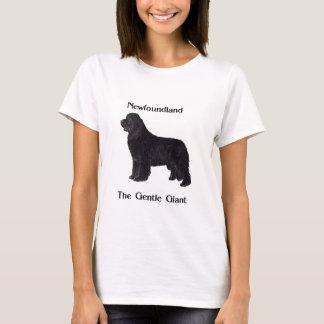 T-shirt Chien de Terre-Neuve le géant doux