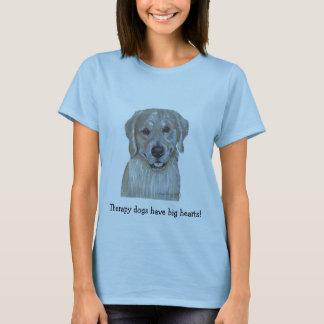 T-shirt Chien de thérapie d'animal familier de golden