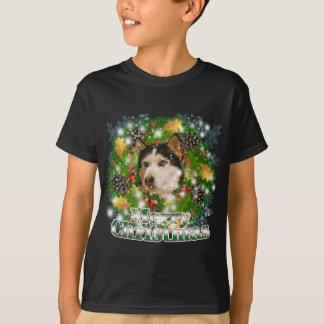 T-shirt Chien de traîneau de Joyeux Noël