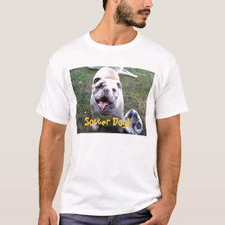 T-shirt Chien du football !