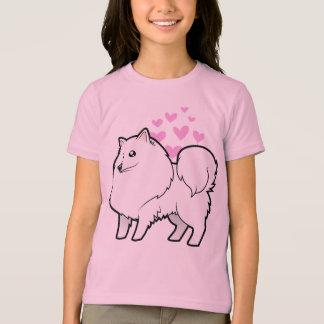 T-shirt Chien esquimau américain/amour allemand de Spitz