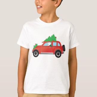 T-shirt Chien esquimau américain conduisant la voiture