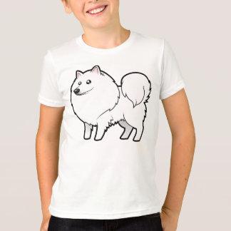 T-shirt Chien esquimau américain de bande dessinée/Spitz