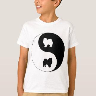T-shirt Chien esquimau américain Yin Yang