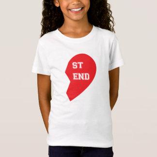 T-Shirt Chien et humain étant assorti de meilleur ami