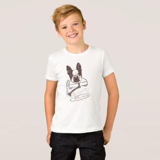 T-shirt Chien et os - Boston Terrier