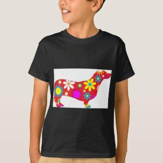 T-shirt Chien floral génial de teckel