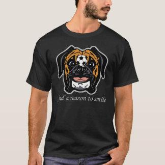 T-shirt chien heureux de boxeur