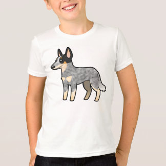 T-shirt Chien/Kelpie australiens de bétail de bande