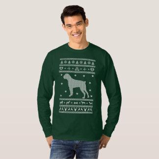 T-shirt Chien laid de boxeur de Noël de chandail