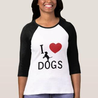 T-shirt chiens du coeur i