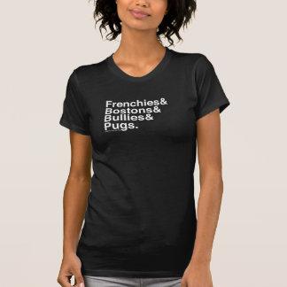 T-shirt Chiens helvetica