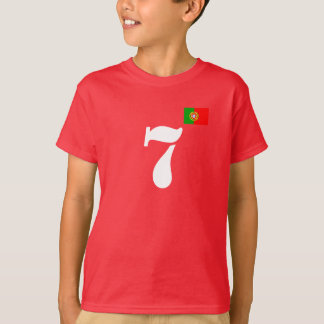 t-shirt chiffre 7 Portugal drapeau