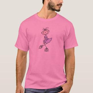 T-shirt Chiffre chemise de bâton de lavande de patineur de