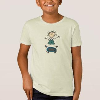 T-Shirt Chiffre chemise de bâton de trempoline