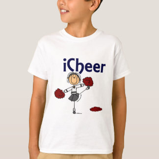T-shirt Chiffre de bâton d'acclamation du pom-pom girl I