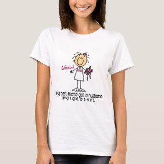 T-shirt Chiffre de bâton de demoiselle d'honneur j'ai