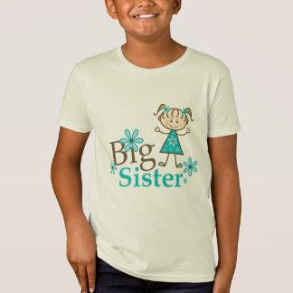 T-Shirt Chiffre de bâton de grande soeur