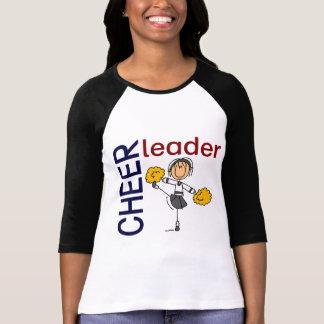 T-shirt Chiffre de bâton de pom-pom girl