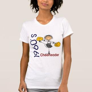 T-shirt chiffre de bâton de pom-pom girl des années 1960
