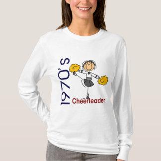 T-shirt chiffre de bâton de pom-pom girl des années 1970