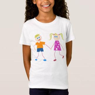 T-Shirt Chiffre garçon et fille de bâton