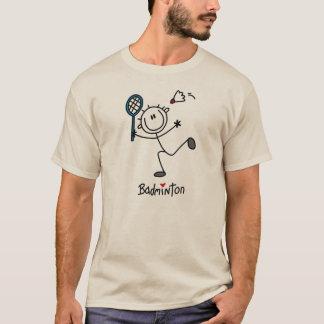 T-shirt Chiffre masculin de base badminton de bâton