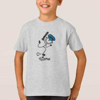 T-shirt Chiffre policier de bâton