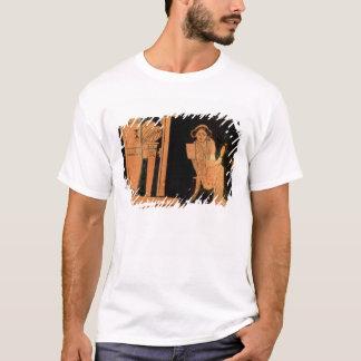 T-shirt Chiffre rouge pyxis de grenier dépeignant une