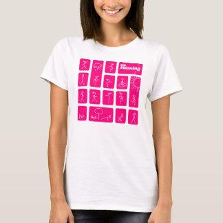 T-shirt Chiffres célèbres du bâton de Tessa
