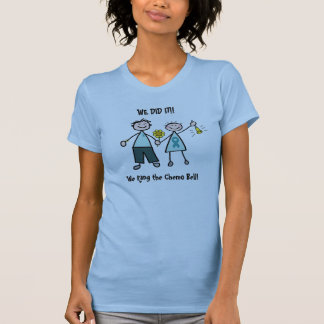 T-shirt Chimio Bell - ruban de Teal de Cancer ovarien