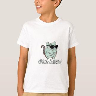 T-shirt Chinchilla bleu de Chinchillin