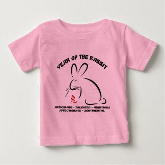 T-shirt chinois de lapin de nouvelle année