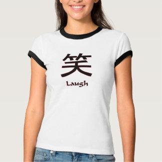 T-shirt chinois de rire de symbole
