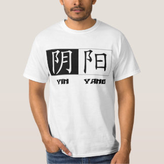 T-shirt chinois de symboles de Yin Yang