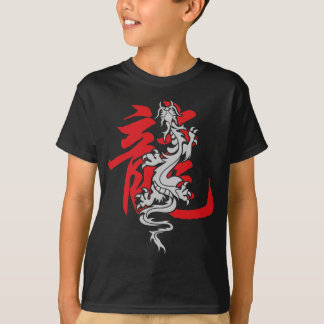 T-shirt chinois oriental asiatique de dragon